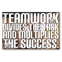 Teamwork divides the task and multiples the success. Inspirational Quote