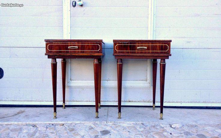 Mesa de cabeceira vintage 45 c x 60 altura - à venda - Móveis & Decoração, Lisboa - CustoJusto.pt