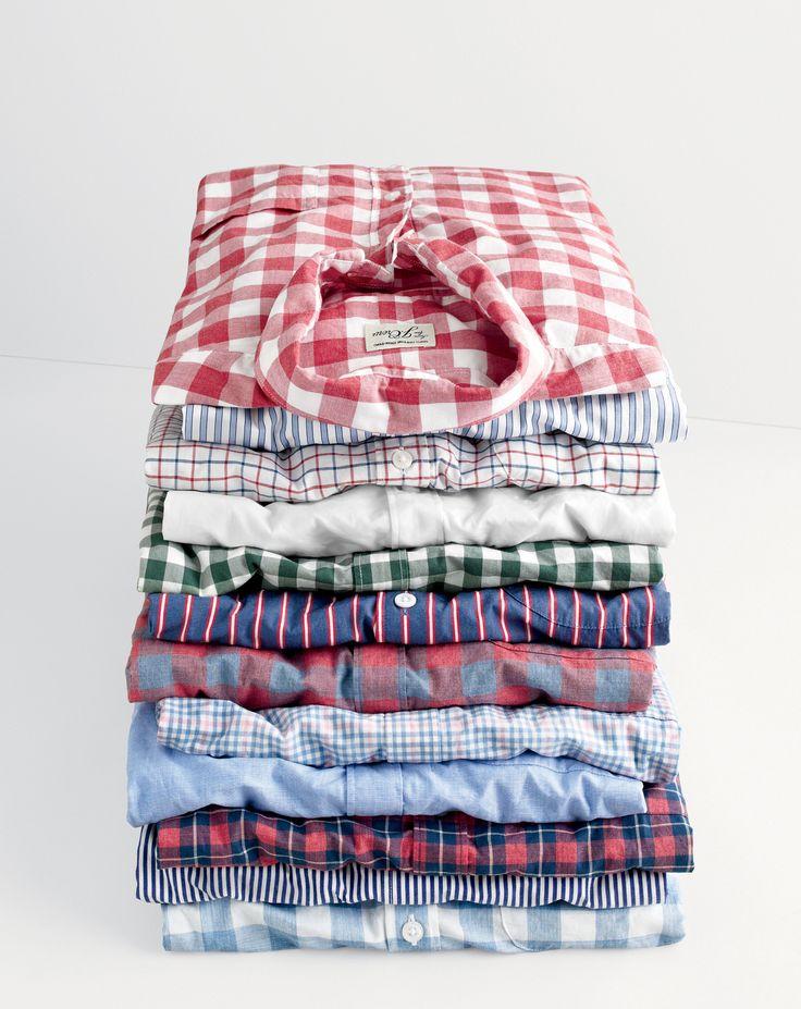 J.Crew men's Secret Wash shirts.
