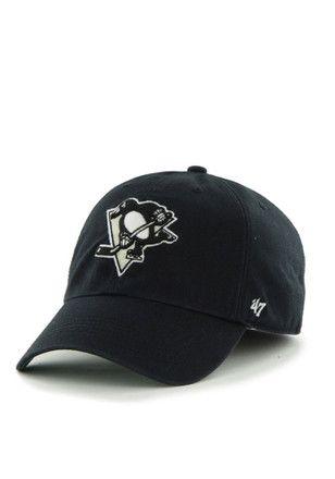Pitt Penguins '47  Mens Black `47 Franchise Fitted Hat