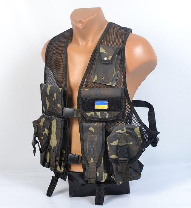 Легкий оригинальный разгрузочный жилет Хаки  | купить в Украине | опт и розница