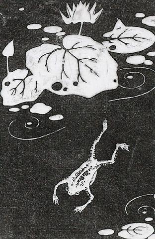 伊藤若冲『未草(ひつじぐさ)』-拓版摺(額装もできます) - 京都 木版画の販売 Winds!芸艸堂(うんそうどう)/Ukiyo-e, Woodblock print - Winds! UNSODO
