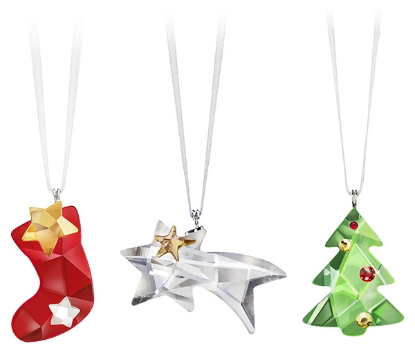 Playful #Swarovski Christmas Set : Stocking, Comet, and Tree <3