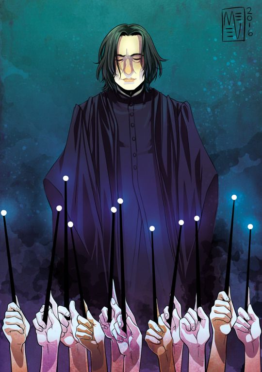 R.I.P. Alan Rickman - our Severus Snape by THE ART OF MAGGIE VENABLE