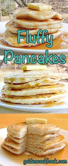 This is the perfect pancake recipe if you like soft, fluffy and gooey pancakes from scratch. Plus it's healthy with hardly any added sugars or fats!: