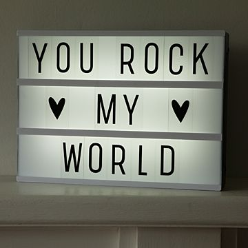 This quirky retro lightbox is definitely our new favourite toy - hours of fun and entertainment can be had with this little gem! Create your own quotes any time, any day with this cool message board which lights up. Whether you want to share your thoughts, mood or leave someone a special message, the list is endless #retro #lightbox £30