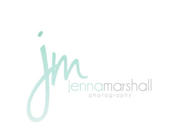 Custom Logo Design Premade Logo and Watermark for Photographers and Small Crafty Boutiques Ombre Watercolor Script Signature Text Logo