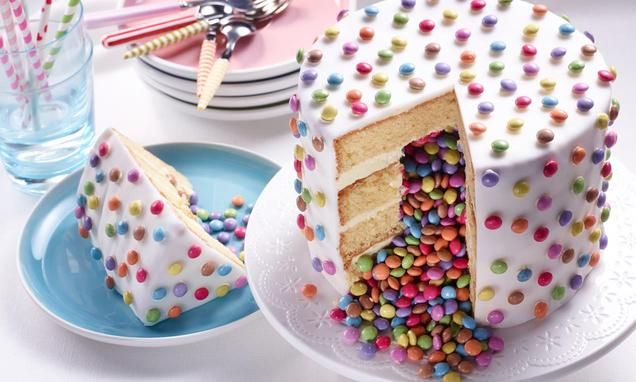 Surprise inside verjaardagstaart                              -                                  Voor wie niet kan kiezen tussen snoep of taart: surpise inside verjaardagstaart!