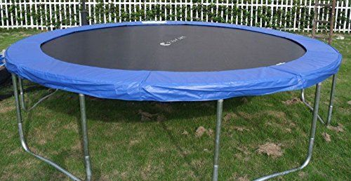 Exacme 13ft Trampoline w/ Safety Pad and Enclosure Net and Ladder All-in-one Set