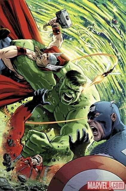 Hulk vs the original Avengers