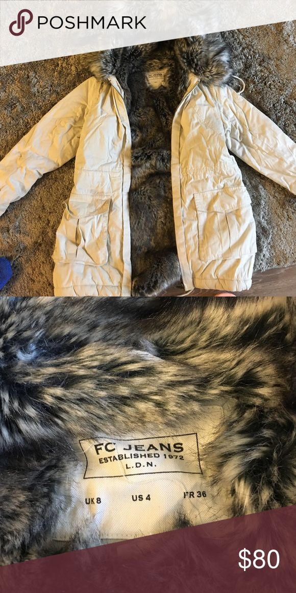 french connection faux fur coat super comfortable and warm! French Connection Jackets & Coats Pea Coats