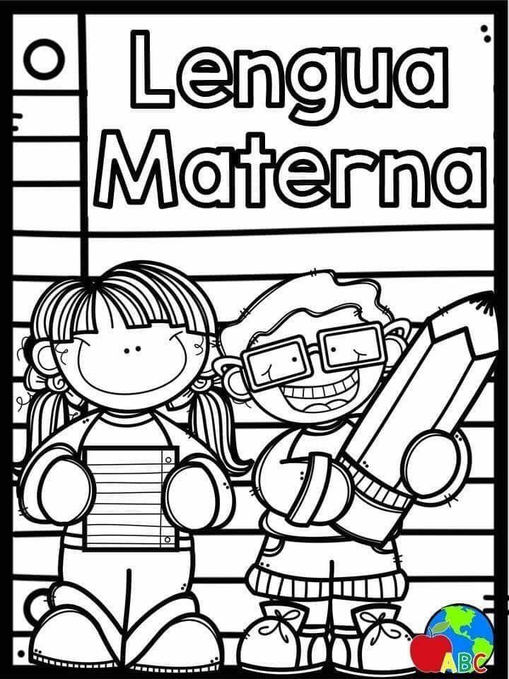 Portadas Materias Para Colorear Caratulas Para Cuadernos Escolares Actividades Sentimientos Libro De Preescolar