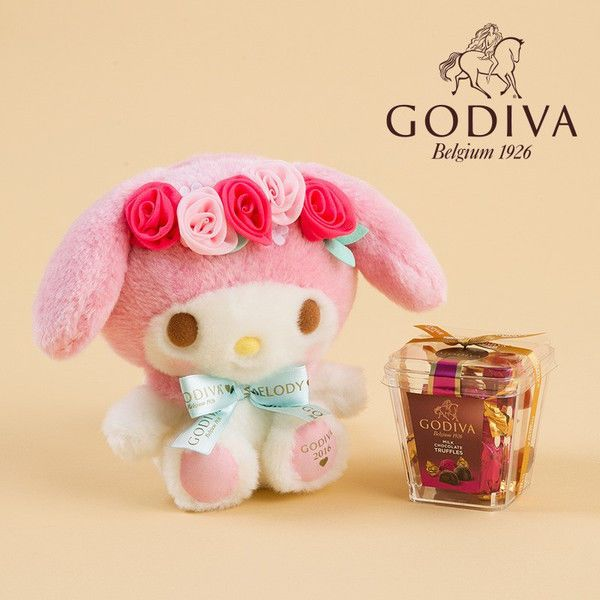 Valentine 2016 My Melody Plush Doll × GODIVA Chocolate SET ❤ SANRIO Japan