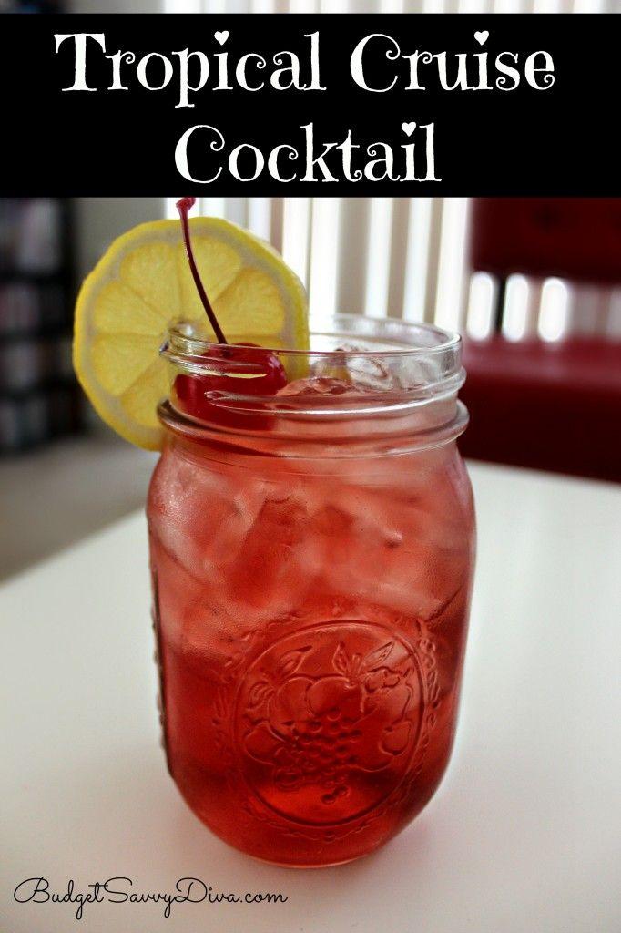 Tropical Cruise (4.5 oz of Cranberry Cocktail 1.5 oz Malibu Mango  1 oz of Rum  1/2 oz of Peach schnapps)