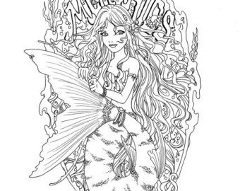 mermaid coloring pages adult google search - Mermaid Coloring Pages Adults