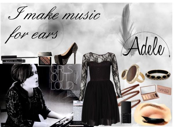 """Music & Adele"" by nindyahkinasih on Polyvore"