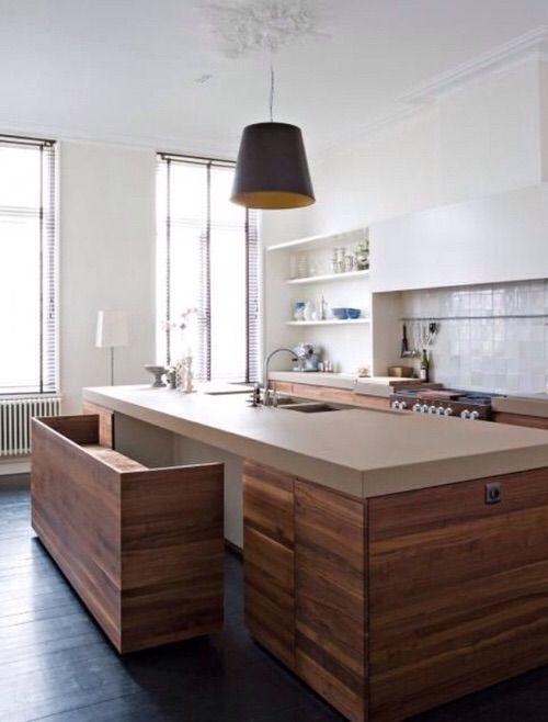 Imagen vía We Heart It https://weheartit.com/entry/166071716 #beautiful #big #design #home #house #kitchen #luxe #luxury #modern #rich #wood #moder