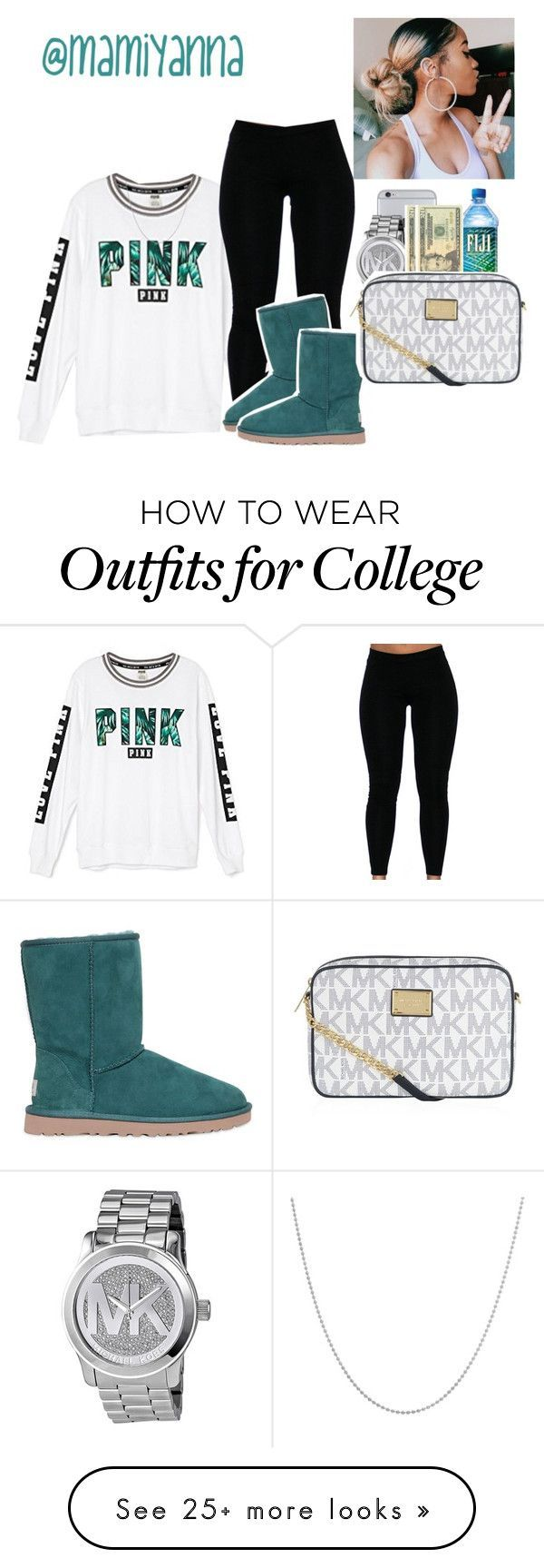 """Me,U,& Hennessy- Jaquees "" by mamiyanna on Polyvore featuring Victoria's Secret, Sterling Essentials, UGG Australia, Michael Kors, OPTIONS and MICHAEL Michael Kors"