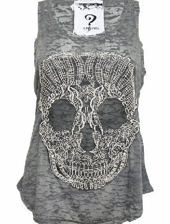 Lace Skull Burnout Vest 202DV-0863 The Lace Skull Burnout Vest is made from light grey burnout cotton. On the front of this tank is a crochet lace candy skull applique. http://www.comparestoreprices.co.uk/fashion-clothing/lace-skull-burnout-vest-202dv-0863.asp