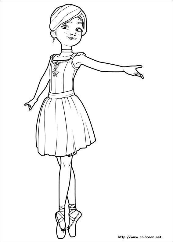Ballerina Colorear Coloring Page Ballerina Coloring Pages