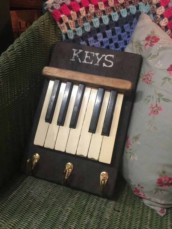 Handmade Piano Key Key holder by HoppipollaFinds on Etsy