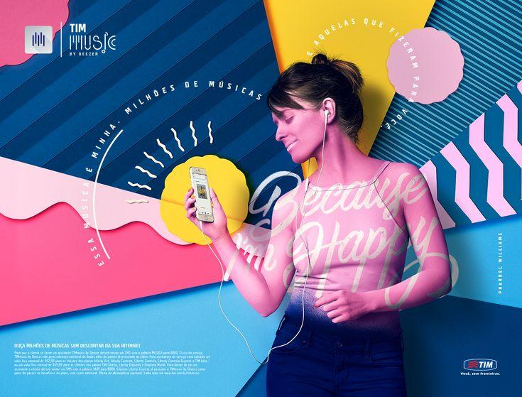 Lettering designs to campaign of TIM Music/Deezer streaming platform.