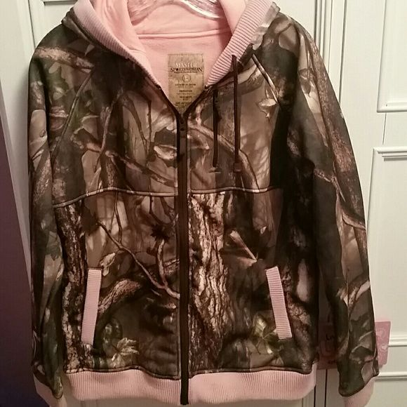 Pink camo jacket NWOT. Pink camo jacket.  *small dot on bottom that I didn't notice when purchased* Jackets & Coats