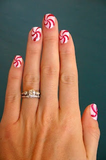 peppermint swirls instead of stripes