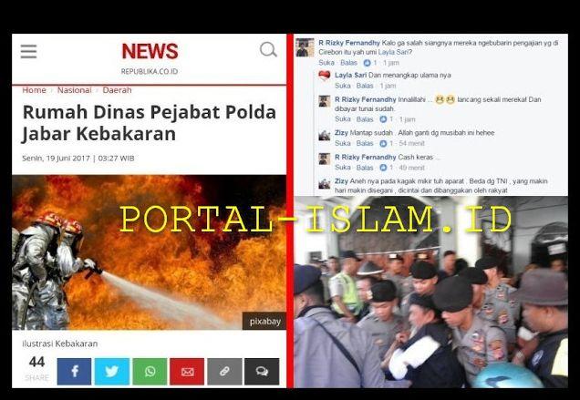 Kompleks Rumah Dinas Pejabat Polda Jabar Terbakar Netizen: Cash Keras! Siangnya Bubarin Pengajian di Cirebon http://news.beritaislamterbaru.org/2017/06/kompleks-rumah-dinas-pejabat-polda.html