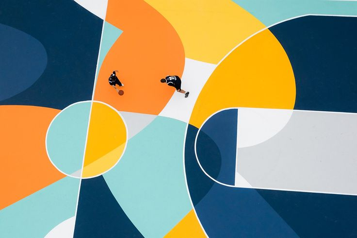 'Playground' - Colourful Basketball Court in Italy by Gue