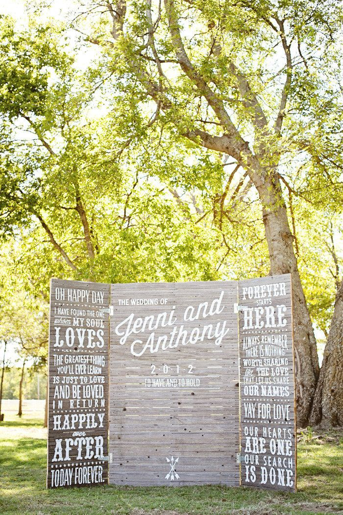 Love these #Backdrops for #Ceremony or #Photobooth | See the wedding on SMP: http://www.StyleMePretty.com/2012/12/04/tulsa-oklahoma-ranch-wedding-from-imago-vita-photography/ Imago Vita Photography