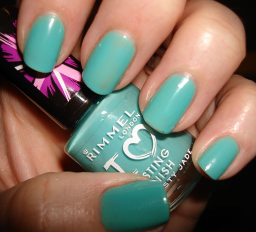 Rimmel, Misty Jade: Wishful Closet, Nail Polish, Beautiful Nails, Nails Makeup, Jade, Blue Ish Green, Hair Nails, Fashion Nails