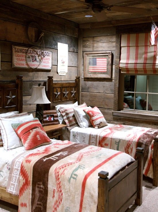 LOVE THE PICTURE OF THE FLAG and how it is framed, actually love the whole room too.....Rustic Interior Design Ideas Design, Pictures, Remodel, Decor and Ideas - page 18