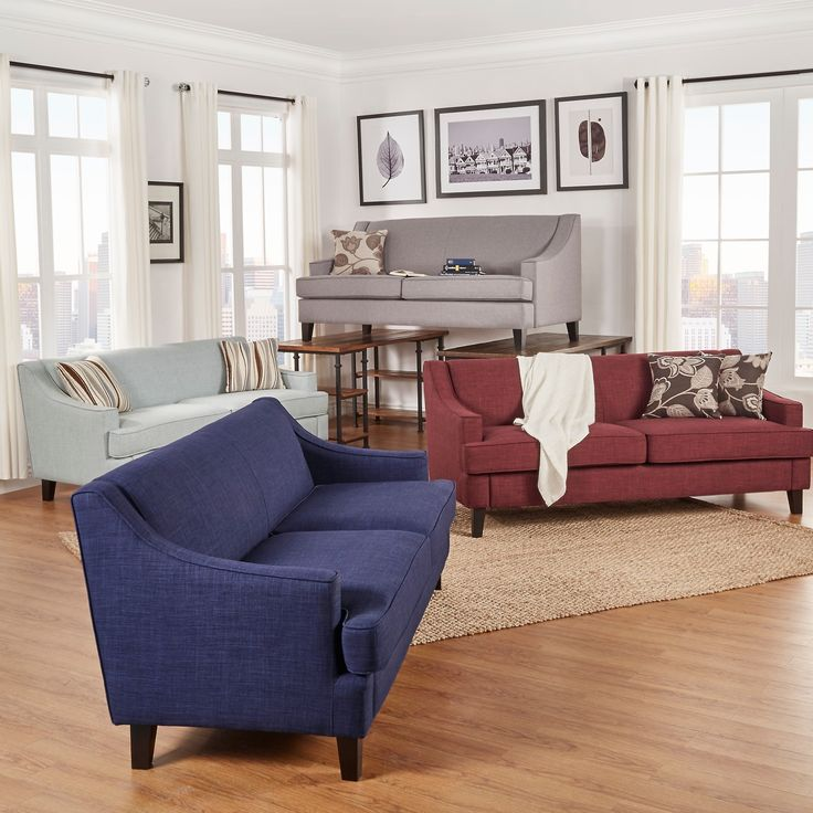 Rejuvenate your living space with this stunning sofa. The two-cushion long sofa features an elegant high back and firm cushions for added support. This beautifully structured sofa is comfortable and firm.