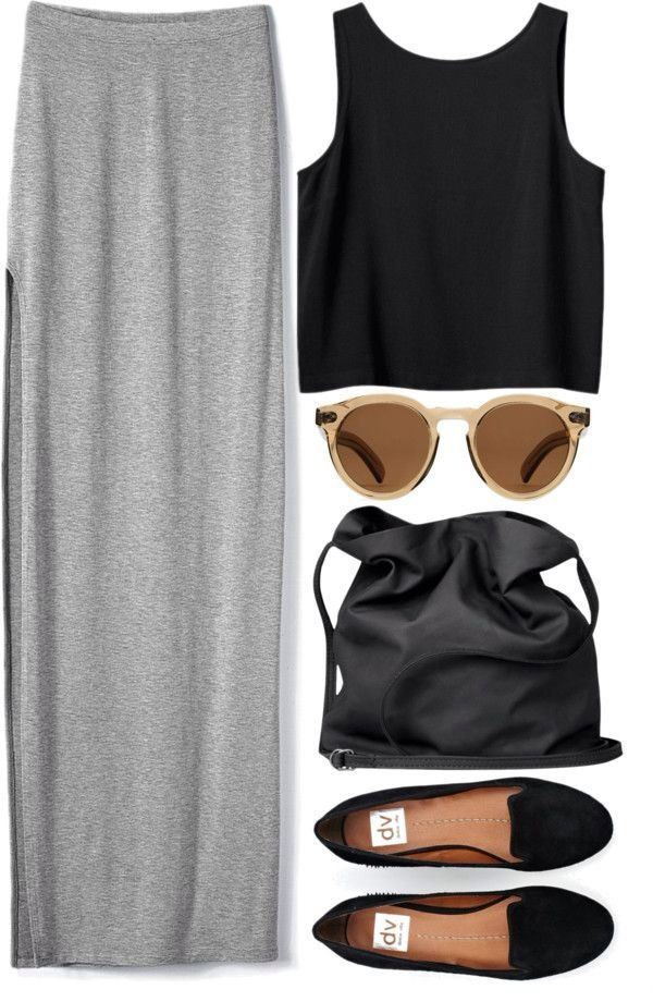 Minimal + Chic | crop top. maxi skirt. #outfit #casual #simple