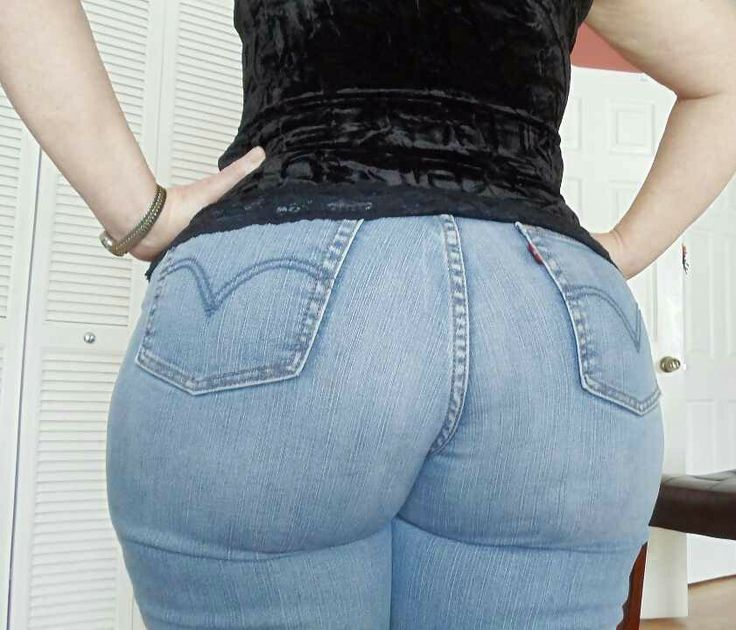 tight ass blue jeans