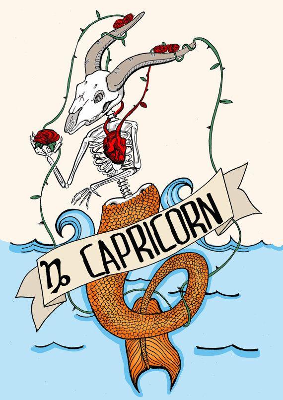 FRIDA KAHLO capricorn Limited edition zodiac sign by CorazonBeats