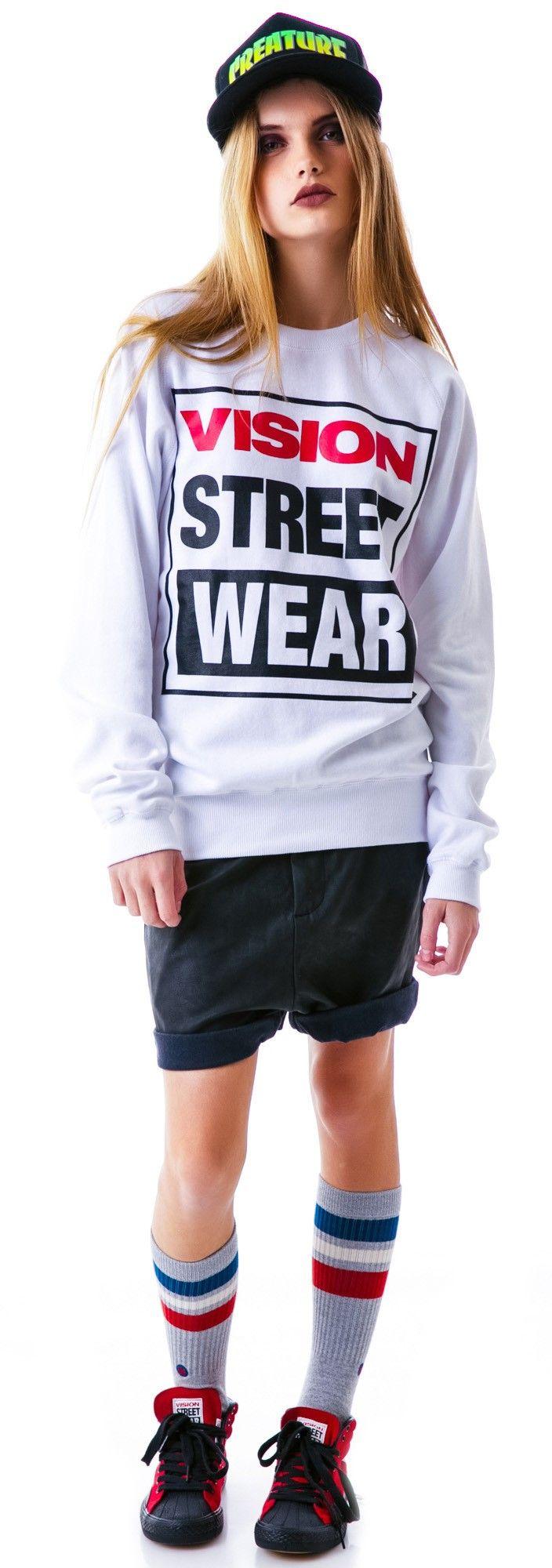 Vision Street Wear Vision Street Wear Logo Sweatshirt   Dolls Kill