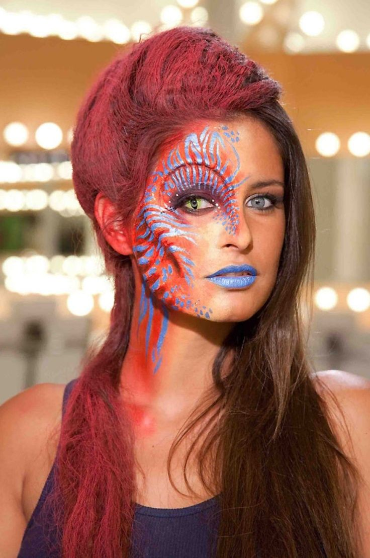 16 Best Maquillage Alien Images On Pinterest Aliens Artistic Make Up And Costume Makeup