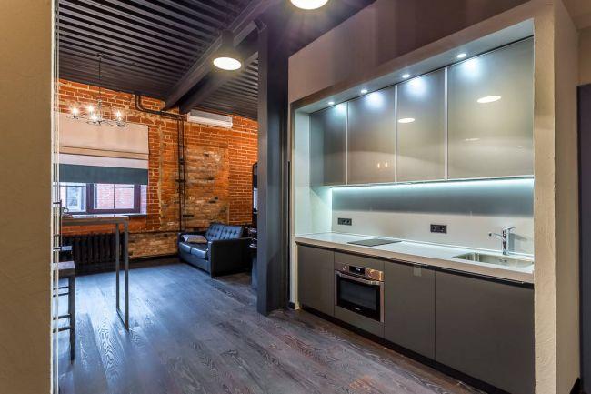Удачное сочетание двух разных стилей при оформлении интерьера двухкомнатной квартиры
