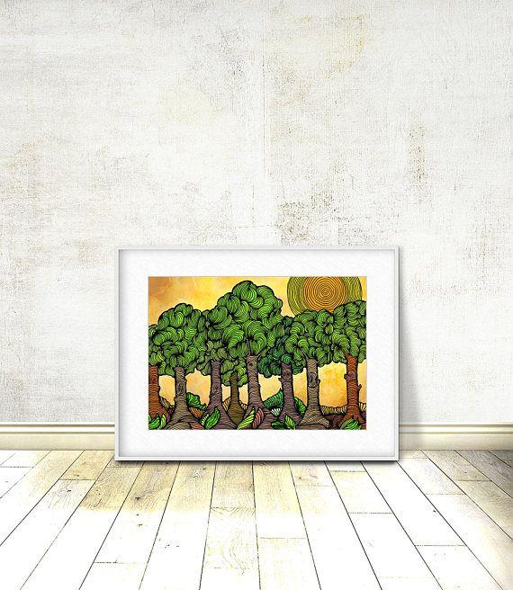 Landscape Forest Landscape Art Forest Print Forest Art