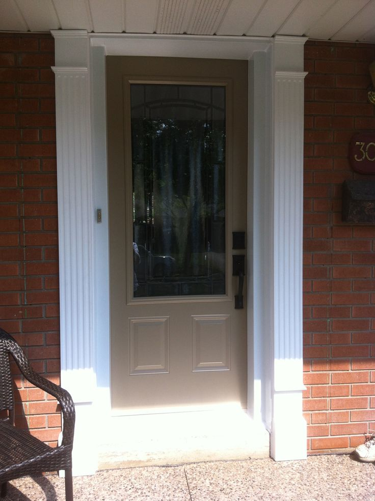 Custom door purchased and installed by Fairview Renovations