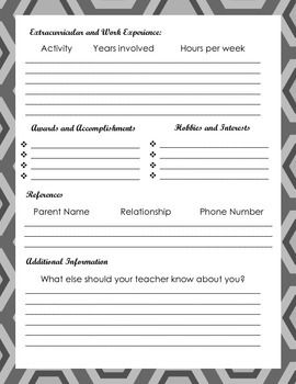 first day of school student resume student resume