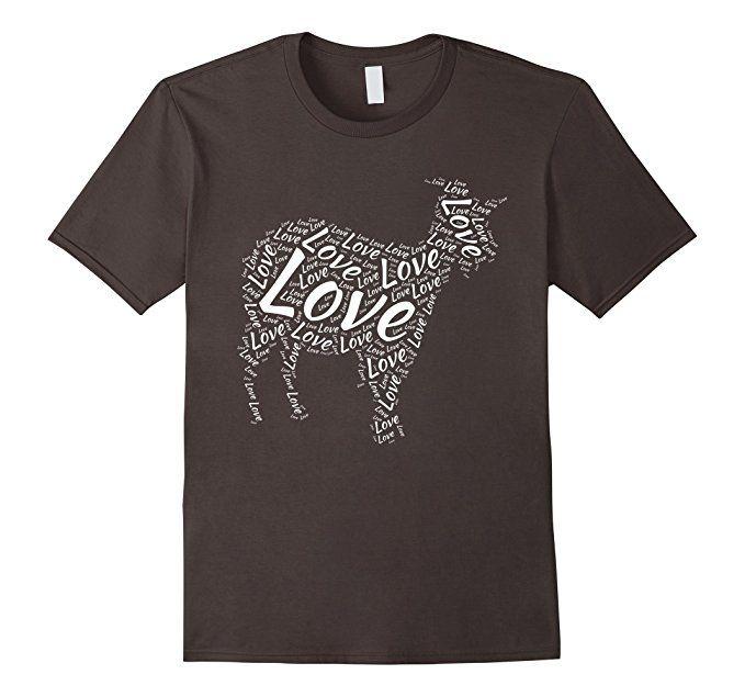 Men's Love Goat Shirt, I Love Goats T-Shirt Graphic Billy Goat Tee Small
