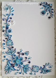 quilling patterns for photo frames - Google Search