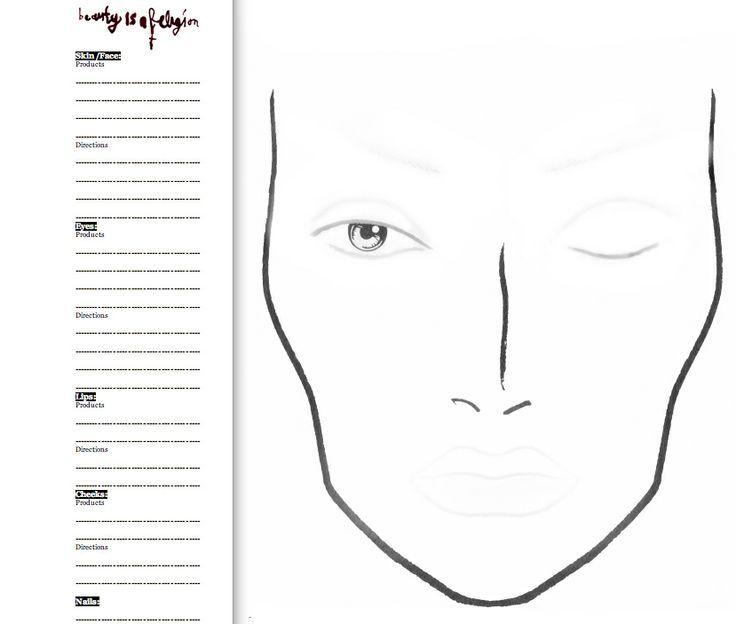Makeup Face Charts Mac
