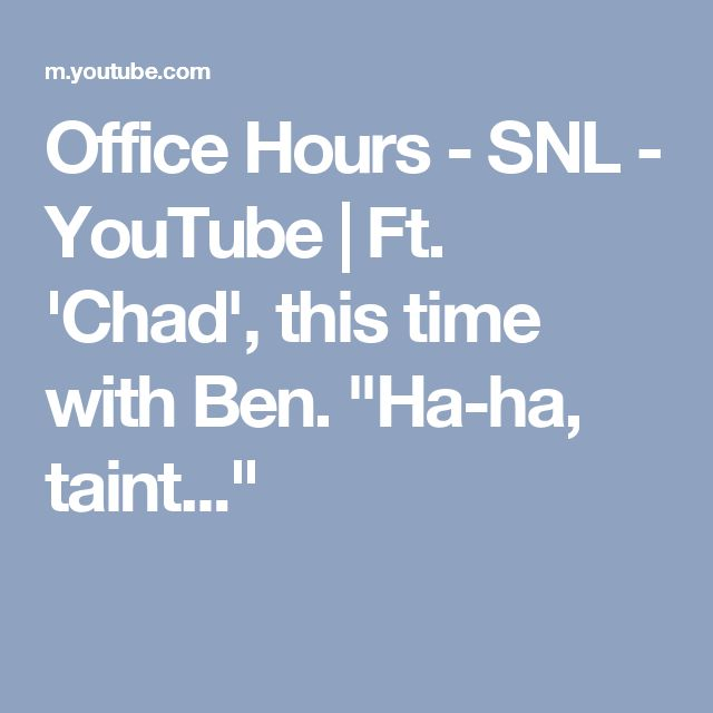 """Office Hours - SNL - YouTube 