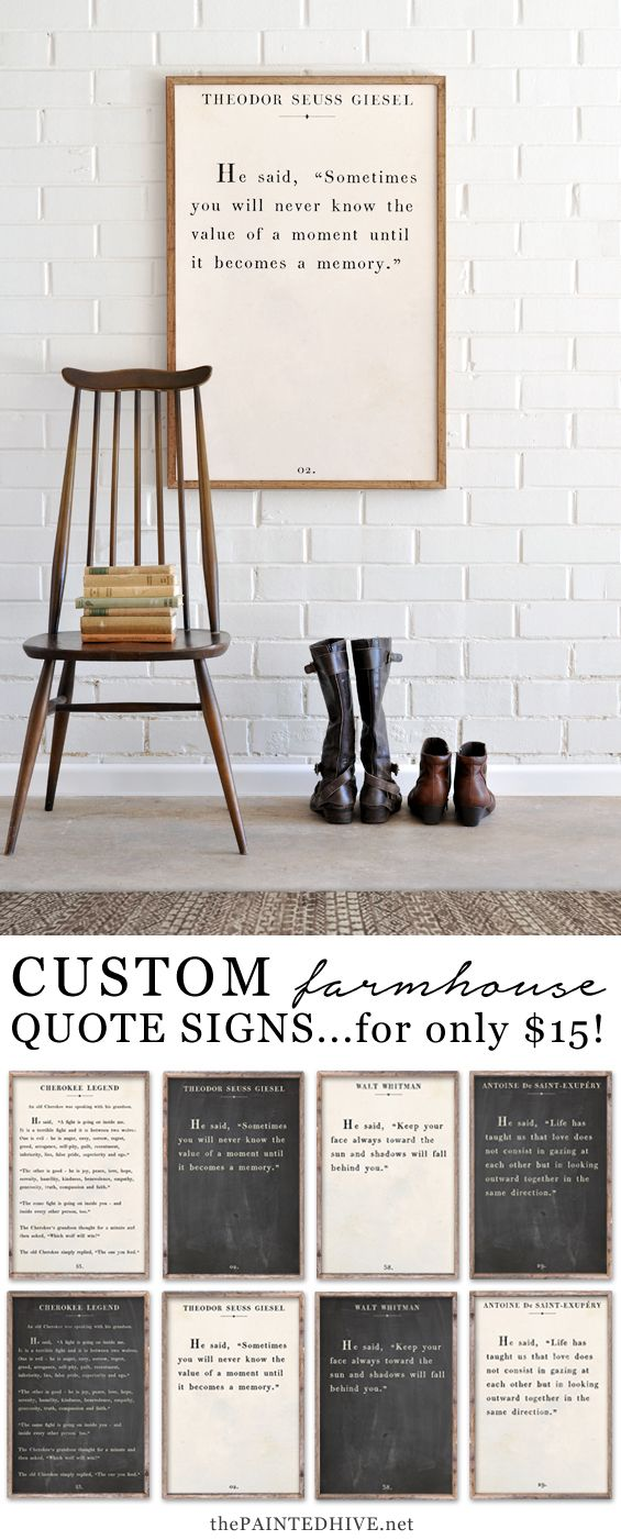 Your very own quote on a gorgeous farmhouse style sign - available in three different designs and colours!