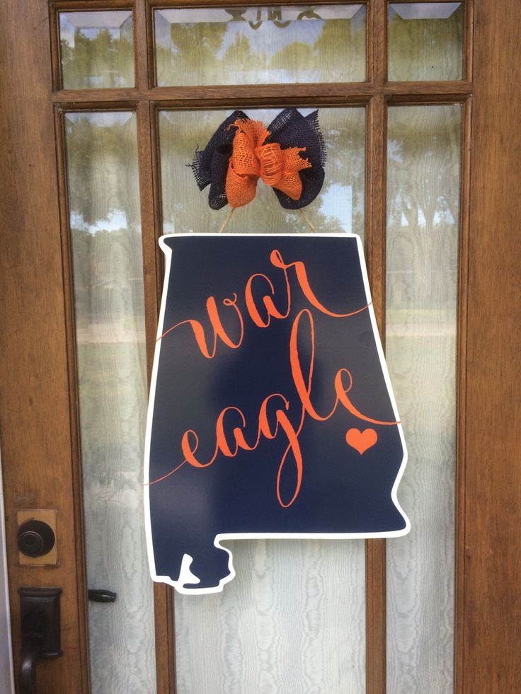 War Eagle Door Hanger Auburn Home State Sign Alabama