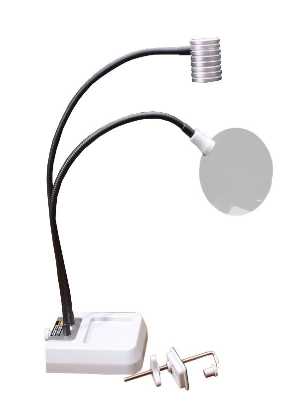 Fly Tying Magnifying Light Floor Lamp Magnifier Mirror Table
